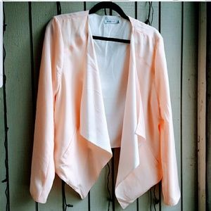 Just Fab peach draped blazer